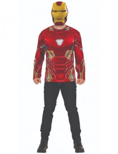 T-shirt e máscara Iron Man Infinity War™ adulto