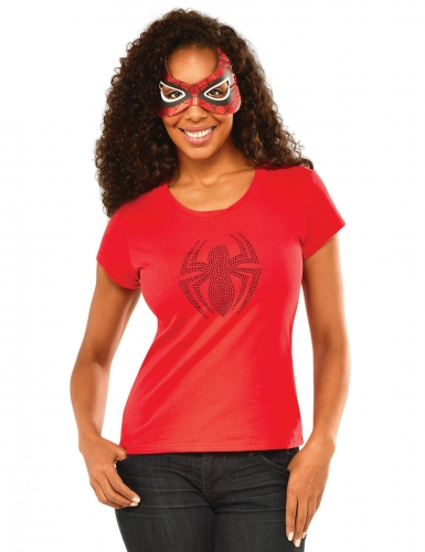 T-shirt e mascarilha Spidergirl™ mulher
