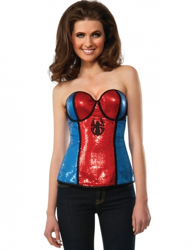 Corpete com lantejoulas Spidergirl™ mulher