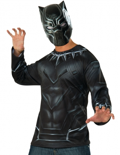T-shirt e máscara Black Panther™ adulto