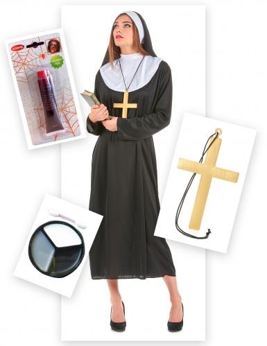 Pack disfarce freira zombie mulher-1