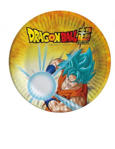 8 Pratos pequenos de cartão Dragon Ball Super™ 18 cm