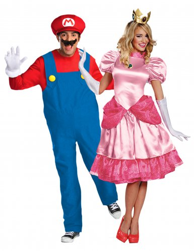 Disfarce de casal Princesa Peach™ e Super Mario™
