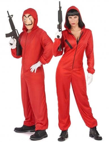 Disfarce de casal ladrão vermelho