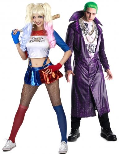 Disfarec casal Joker e parceira adulto
