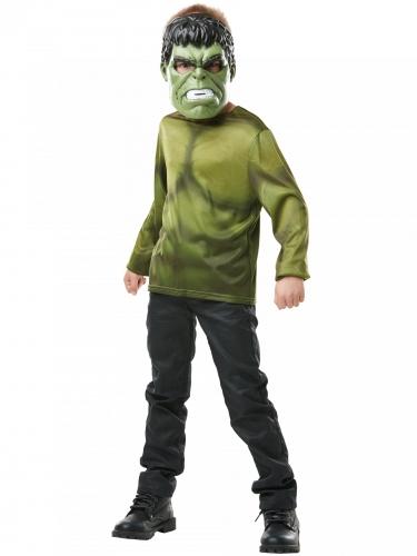 T-shirt com máscara Hulk™ criança