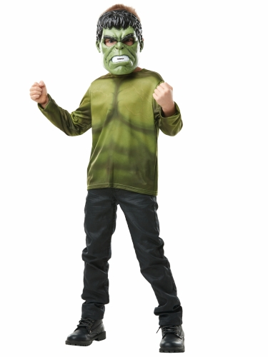T-shirt com máscara Hulk™ criança-1