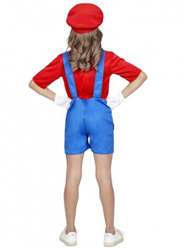 Disfarce canalizador  vermelho de calções menina-2