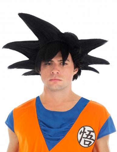 Peruca preta Goku Saiyan Dragon Ball Z™ adulto