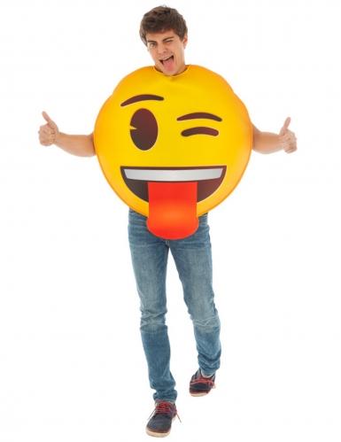 Disfarce Emoji piscra de olho™ adulto