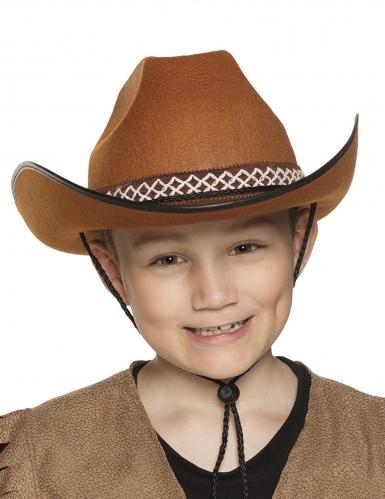 Chapéu cowboy castanho criança