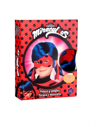 Coffret peruca e máscara Ladybug™ criança-1