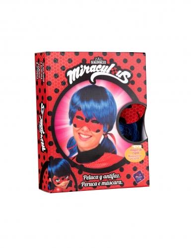 Coffret peruca e máscara Ladybug™ adulto-1