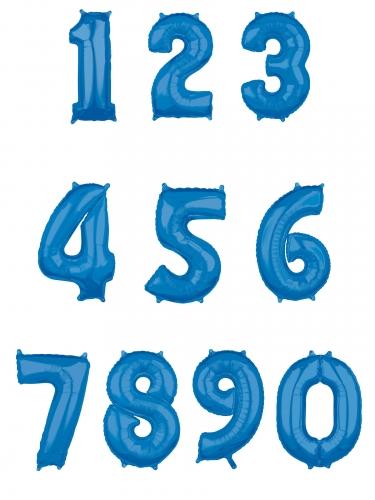 Balão alumínio número azul 43 x 66 cm-1