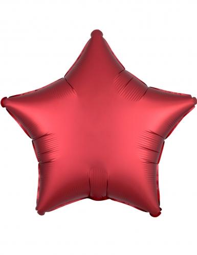 Balão alumínio estrela rubi 43 cm