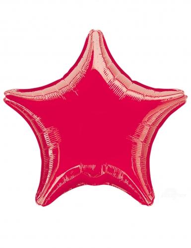 Balão alumínio estrela vermelha 43 cm