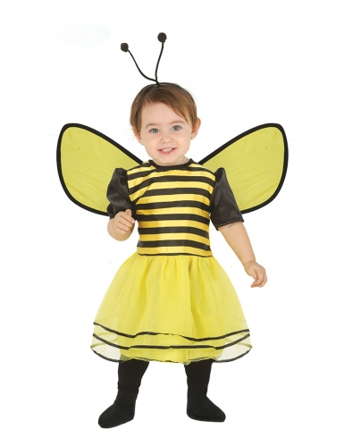 Disfarce vestido de abelha com tiara bebe