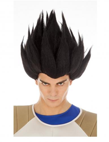 Peruca vegeta Saiyan preta Dragon Ball™ adulto