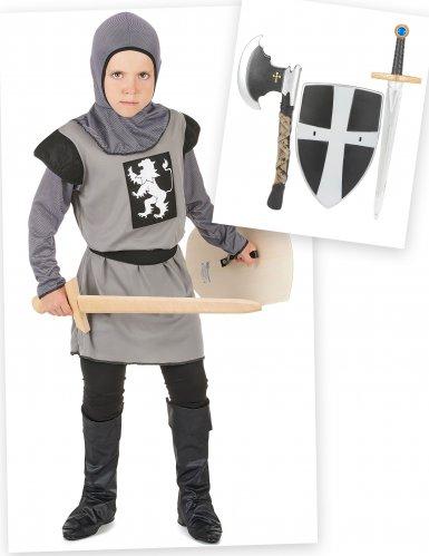 Pack disfarce cavaleiro para menino com acessórios