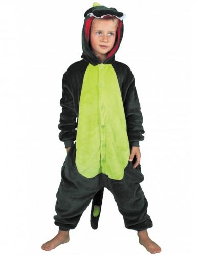 Disfarce macacão dinossauro verde criança