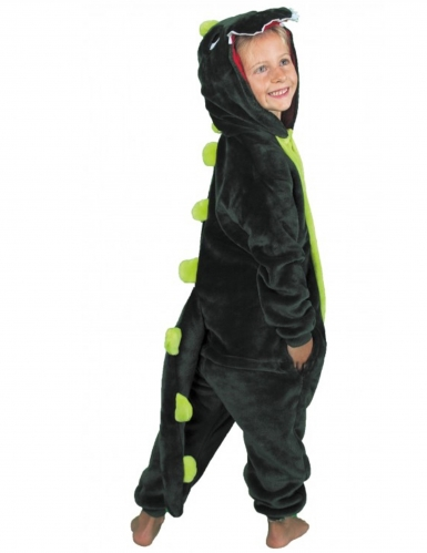 Disfarce macacão dinossauro verde criança-1