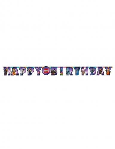 Grinalda de cartão Happy Birthday A Grande Aventura Lego 2™ 163 x 13 cm-1