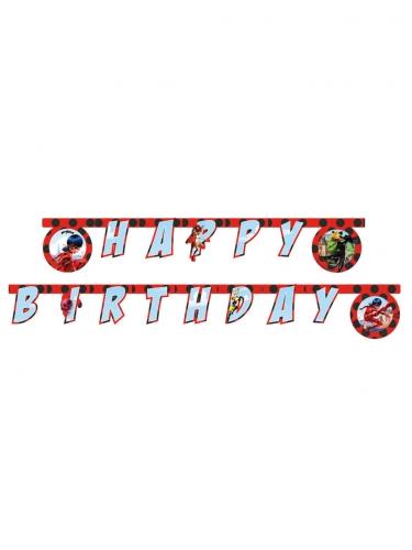 Grinalda Happy Birthday Miraculous Ladybug™ 2 m