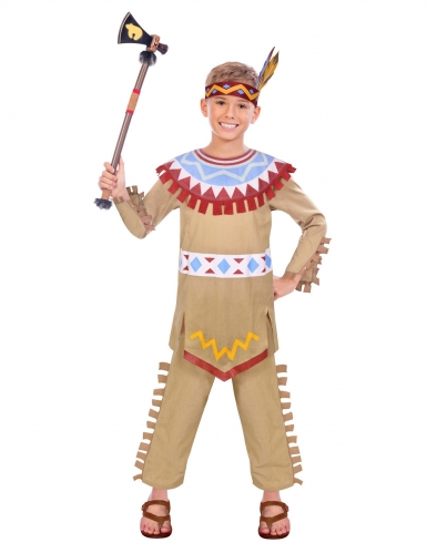 Disfarce índio colorido para menino