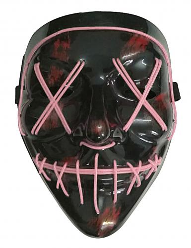 Máscara Led luminosa fuchsia adulto-1