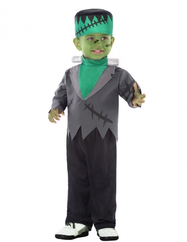 Disfarce monstro artificial verde bebé