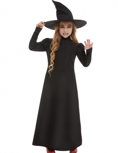Disfarce bruxa clássica preta menina
