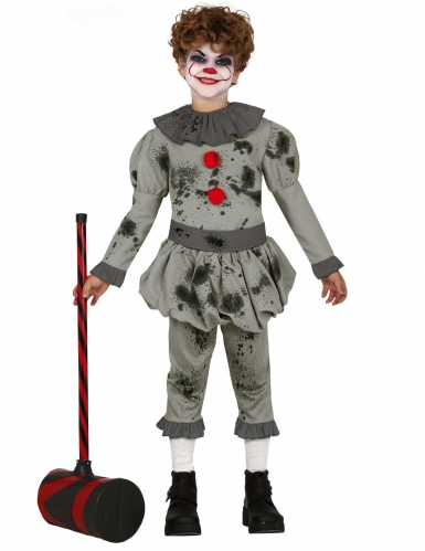 Disfarce palhaço psicopata menino