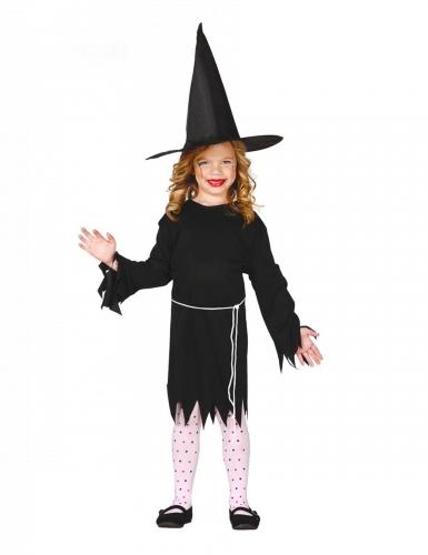 Disfarce bruxa com chapéu menina