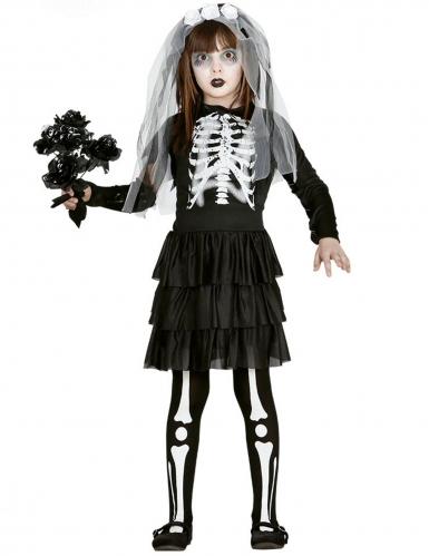 Disfarce noiva esqueleto menina