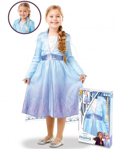 Caixa presente disfarce e trança Elsa Frozen 2™