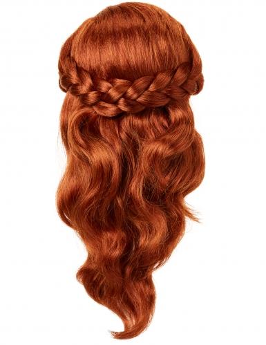 Peruca luxo Anna Frozen 2™ menina-1