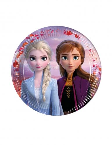 6 Pequenos pratos de cartão Frozen 2™ 16 cm