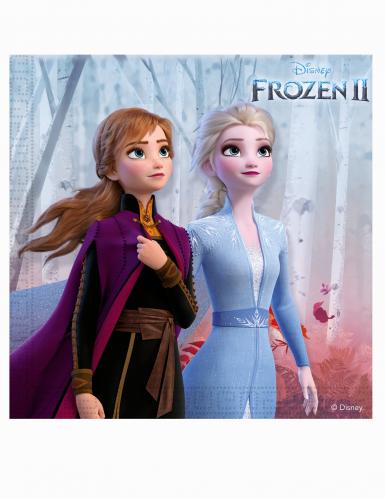 20 Guardanapos de papel Frozen 2 - O Reino do Gelo™ 33 x 33 cm