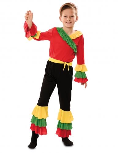 Disfarce dançarino de rumba menino