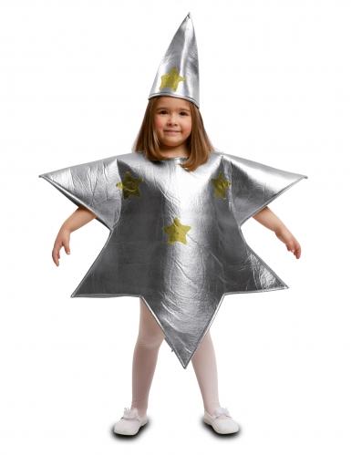 Disfarce estrela prateada criança