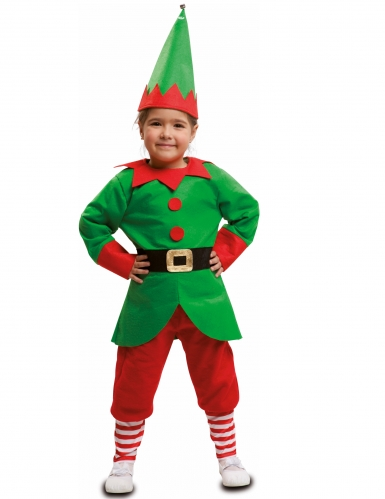 Disfarce duende de Natal criança