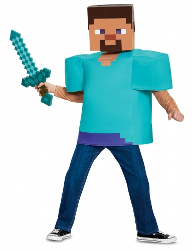 Disfarce clássico Steve Minecraft™ criança-2