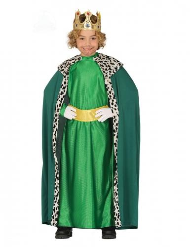 Disfarce Rei Mago verde criança