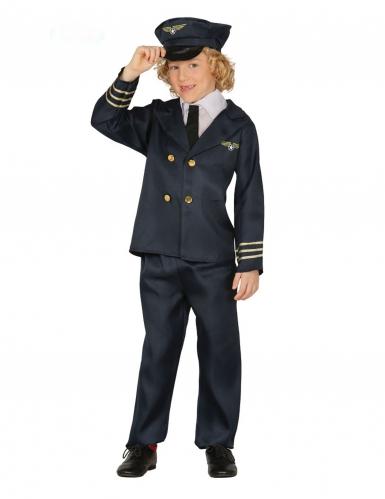 Disfarce piloto de avião menino