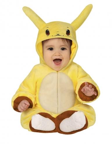Disfarce boneco amarelo elétrico bebé