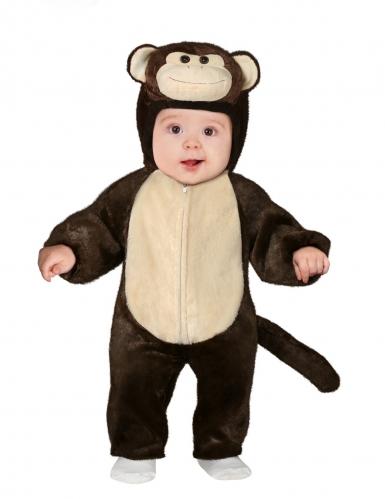 Disfarce macaco pequeno bebé