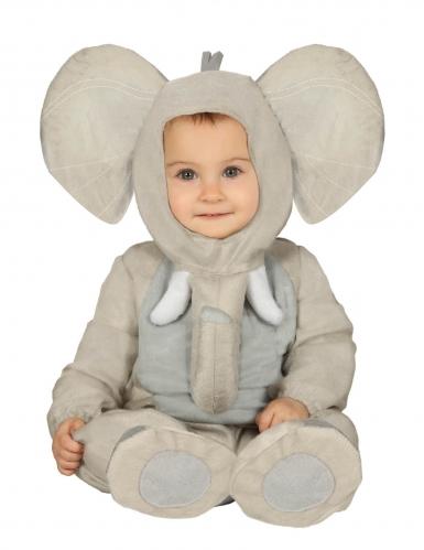 Disfarce elefante pelúcia bebé