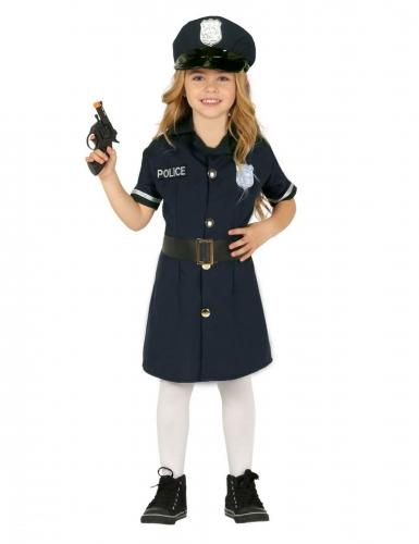 Disfarce vestido polícia menina