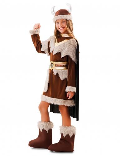 Disfarce viking castanho menina-1
