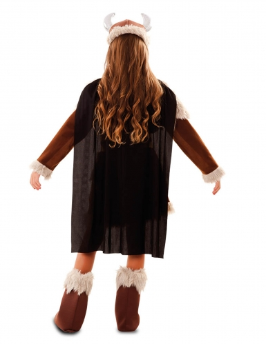 Disfarce viking castanho menina-2